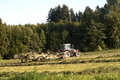 Traktor at work on a field