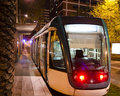 Tram barcelona night Royalty Free Stock Photo