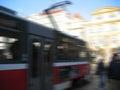 Tram blurred Royalty Free Stock Photo