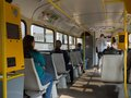 Tram in city most czech republic may st trams czech republic are equipped with electronic ticket system Stock Images