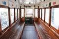 Tram interior. Lisbon . Portugal Royalty Free Stock Photo