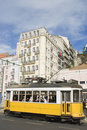 Tram in Lisbon. Royalty Free Stock Photo