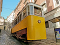 Tram in Lisbon Royalty Free Stock Photography