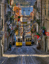 Tram in Lisbon Stock Photography