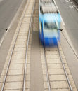 Tram in motion Royalty Free Stock Image