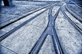 Tram rails Vienna Royalty Free Stock Photos