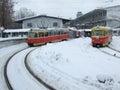 stock image of  Tram routes in Kiev