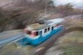Tram speeding Royalty Free Stock Photo