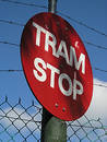 Tram Stop sign Royalty Free Stock Photo