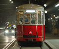 Tram streetcar Vienna  Royalty Free Stock Photography