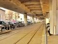 Tram viaduct in zurich switzerland Royalty Free Stock Photos