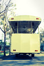 Tramcar,vintage light style. Royalty Free Stock Photography