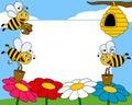 Trame de photo d'abeilles de dessin anim� [1] Images libres de droits