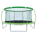 Trampoline with safety net Royalty Free Stock Photo