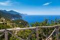Tramuntana mountain range majorca in north coast from verger viewpoint Stock Photography