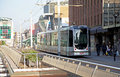 Tramway in the centre of the city rotterdam netherlands april on april Stock Photos