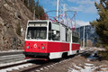 Tramway line for working staff of Sayano-Shushensk Royalty Free Stock Photography