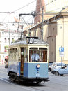 Tramway of old model in cracow poland on the street Stock Photo