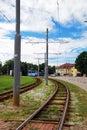 Tramway way in tallin estonia Stock Image