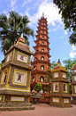 Tran Quoc pagoda Royalty Free Stock Photo