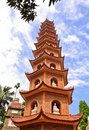 Tran Quoc pagoda Royalty Free Stock Images