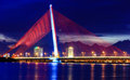 stock image of  Tran Thi Ly Bridge Danang