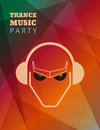 Trance music party poster Royalty Free Stock Photo