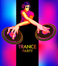 Trance party poster Royalty Free Stock Photo