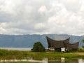 Tranditional museum batak style at lake toba in sumatra island indonesia Royalty Free Stock Images