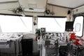 Trane operator s cab interior of a Stock Images
