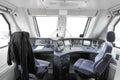 Trane operator s cab interior of a Stock Photo