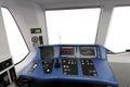 Trane operator s cab interior of a Royalty Free Stock Photo