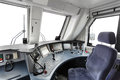 Trane operator s cab interior of a Royalty Free Stock Photography