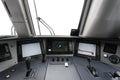 Trane operator s cab interior of a Royalty Free Stock Photos