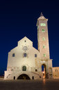 Trani cathedral at twilight apulia southern italy lit by artificial light Stock Photography