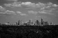 Tranquil Austin Greenbelt Black and white Skyline Royalty Free Stock Photo