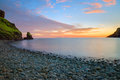 Tranquil bay after sunset Royalty Free Stock Photo