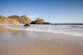 Tranquil beach in Pfeiffer state beach Royalty Free Stock Image