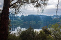 Tranquil Daylesford Lake after spring rain Royalty Free Stock Photo