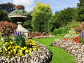 Tranquil Formal Garden Scene Stock Image