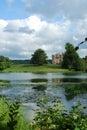 Tranquil river scene at Sherborne, Dorset Royalty Free Stock Photo