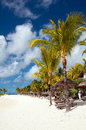 Tranquil tropical beach on mauritius belle mare Royalty Free Stock Photography