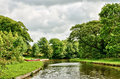 Tranquil view of the Lancaster Canal, England Stock Photos