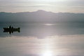 Tranquillity of salton sea in california Royalty Free Stock Photo
