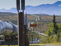 Trans-Alaska oil pipeline Royalty Free Stock Photo