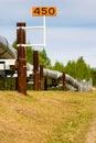 Trans-Alaskan Oil Pipeline Royalty Free Stock Photo