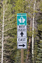 Trans Canada highway sign Royalty Free Stock Photo