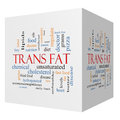 Trans Fat 3D Cube Word Cloud Concept Royalty Free Stock Photos