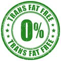 Trans fat free stamp Royalty Free Stock Photo