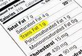 Trans fat nutrition label highlighting the unhealthy fats the food and drug administration recently announced a plan to take Stock Photos